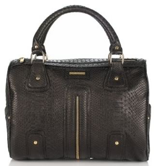 Jack Rabbit The Stinger Snakeskin-Embossed Leather Satchel