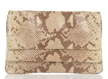 MICHAEL Michael Kors Beverly Python Embossed Clutch