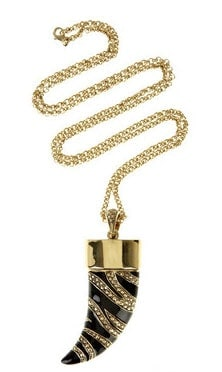 Robert Cavalli Gold-Plated USB Stick Pendant