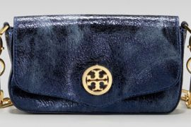 Tory Burch Distressed Metallic Mini Bag