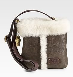 UGG Australia Small Shearling Leather Crossbody Bag