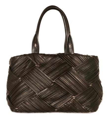 Agnona Pleated Leather Tote
