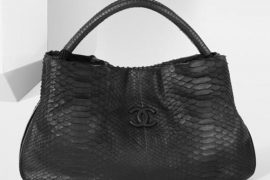 Chanel Rubber Effect Python Signature Tote