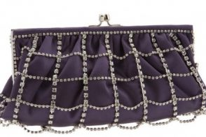 Franchi Carrie Crystal Cage Clutch