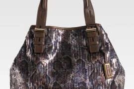 Jimmy Choo Sequined Snake Pattern Tote