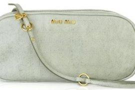 Miu Miu Croc Print Leather Bag