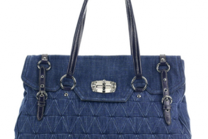 Miu Miu Large Denim Tote