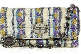 Miu Miu Lurex Jeweled Shoulder Bag