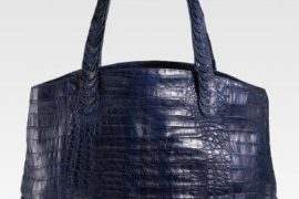 Nancy Gonzalez Navy Croc Tote