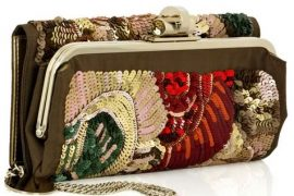 Stella McCartney Embroidered Sequined Clutch