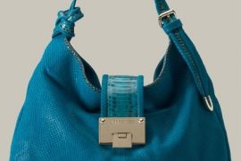 Jimmy Choo Rahmyn Snake-Embossed Hobo