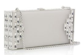 Judith Leiber Streamline Frosted Lucite Clutch