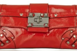 Juicy Couture Studded Patent-Leather Clutch