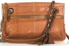 Lanvin Amalia Python Shoulder Bag
