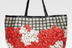 Nancy Gonzalez Crocodile and Whipsnake Floral Tote