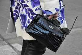 Hermes Kelly Pochette at NYFW