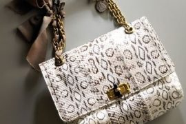 Lanvin Happy Snakeskin Shoulder Bag