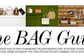 Take a look at Net-a-Porter's Bag Guide!