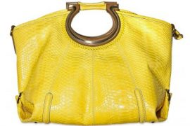 Salvatore Ferragamo Python Fiammetta Shoulder Bag