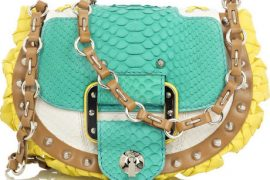 Versace Block Color Python Bag