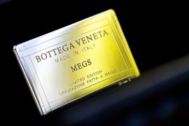Bottega Veneta Special Order: Nero Intrecciato Karung Stretch Knot Clutch