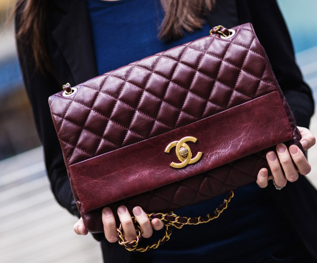 Chanel Burgundy Flap Bag