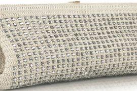 Chloe Iris Strass Crochet Clutch