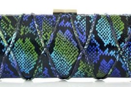 Jimmy Choo Tube Elaphe Snake Clutch