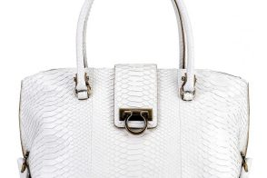 Salvatore Ferragamo Python Soft Sofia Shoulder Bag