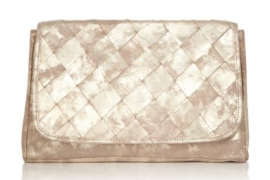 UGG Australia Woven Metallic Leather Clutch