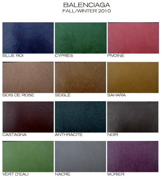 Paint Colors With Cult Followings 10 Picks From The: Balenciaga Fall 2010 Colors: Do I Have To Pick Just One