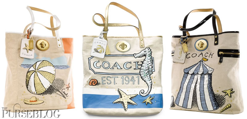 Coach Beach Collection - PurseBlog