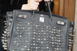 Lady Gaga Implements the Stud Trend on her Hermes Birkin