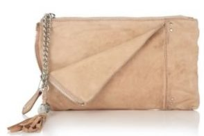 Olivia Harris Zip Pocket Leather Clutch