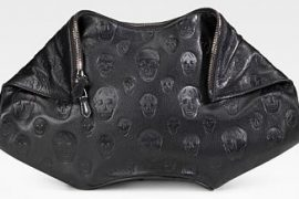 Alexander McQueen Demanta Leather Skull Clutch