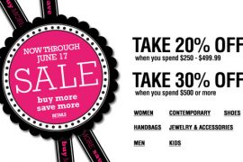 It's Buy More, Save More time at Bloomingdale's!
