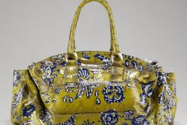 This Carlos Falchi Satchel is a unique handbag statement