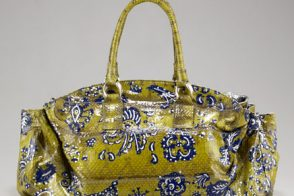 This Carlos Falchi Satchel is a unique handbag statement