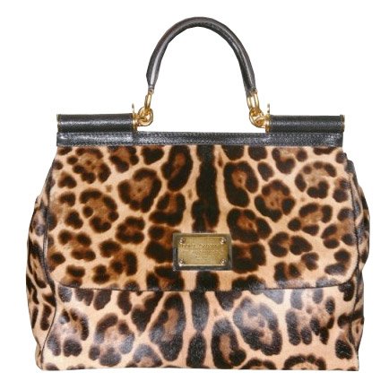 E Shoulder Bag 31 With Blocked Leopard Print