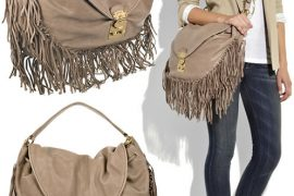 Fringe is In: Miu Miu Leather Fringe Hobo Bag