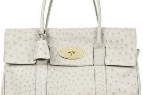 White(ish)-Hot Mulberry Ostrich Bayswater