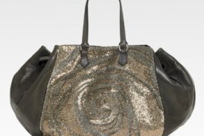 This Valentino Sequined Satchel is…well, it's oddly shaped