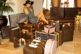 Paris Hilton takes every piece of Louis Vuitton in America to World Cup