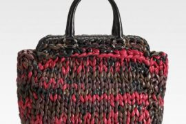Prada's fall knit now available in tote form