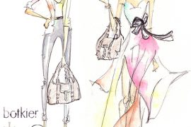 Botkier + PurseBlog Collaboration Bag Illustrated
