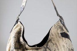 Foley + Corinna hit an asymmetrical high note with the Python Buckle Hobo
