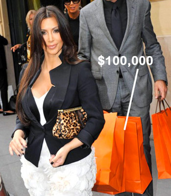 birkin bag look alike - Kim Kardashian spent $100,000 on handbags at Hermes Paris - PurseBlog