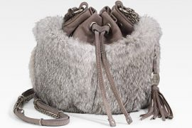 If you want to follow the fur bag trend, Olivia Harris is your best bet