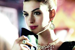 Anne Hathaway is lovely with Roger Vivier