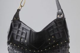 Details enliven Cleobella's black shoulder bag